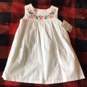 NWT Carter's White Floral Embroidered Dress